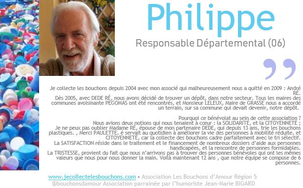 Philippe, collecteur depuis 2004