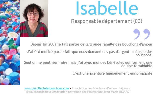 Isabelle, collectrice 03 depuis 15 ans